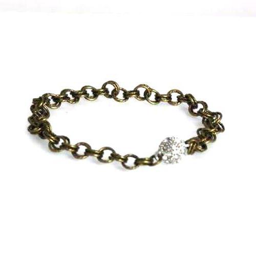 Bronze Double Link Bracelet