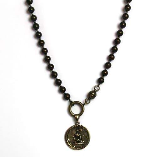 Coin Buddha Necklace
