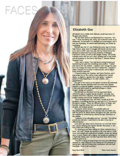 Elizabeth Guz Faces in Downtown Publications