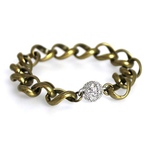 Large Bronze Curb Chain Bracelet