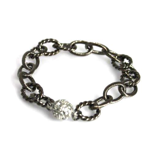 Large Gunmetal Chain Bracelet