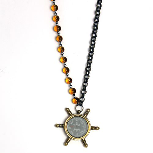 Working Nautical Compass Necklace