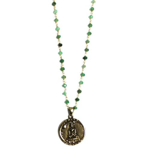 Antique Gold Coin Buddha Necklace