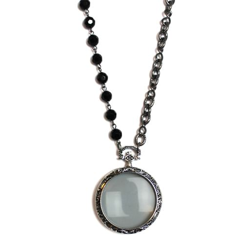 Antique Silver Magnifying Necklace