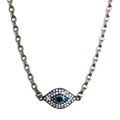 Aqua Evil Eye Necklace