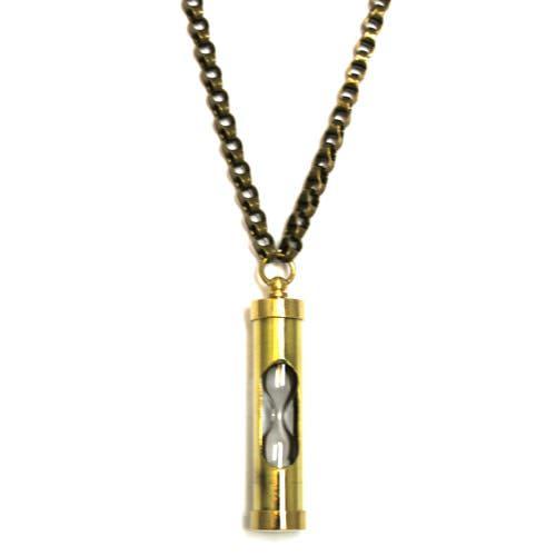 Brass Hourglass Pendant