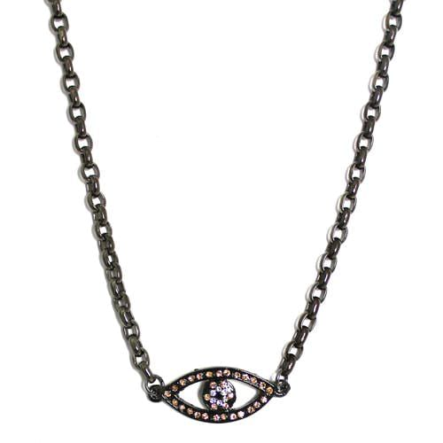 Champagne Crystal Evil Eye Necklace