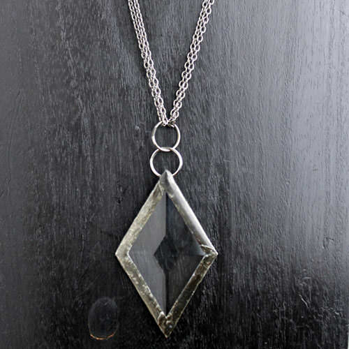 Diamond Shaped Prism Pendant