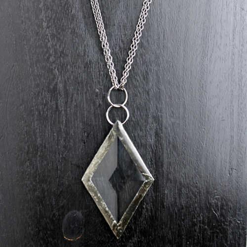 Diamond shaped prism pendant ella designs jewelry diamond shaped prism pendant aloadofball Images