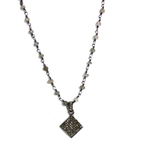 Diamonds on Diamond Shaped Necklace
