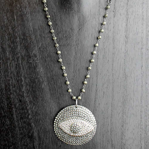 Large Swarovski Crystal Evil Eye Pendant