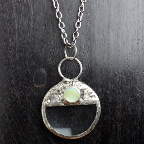 Magnifying Glass with Moonstone Necklace
