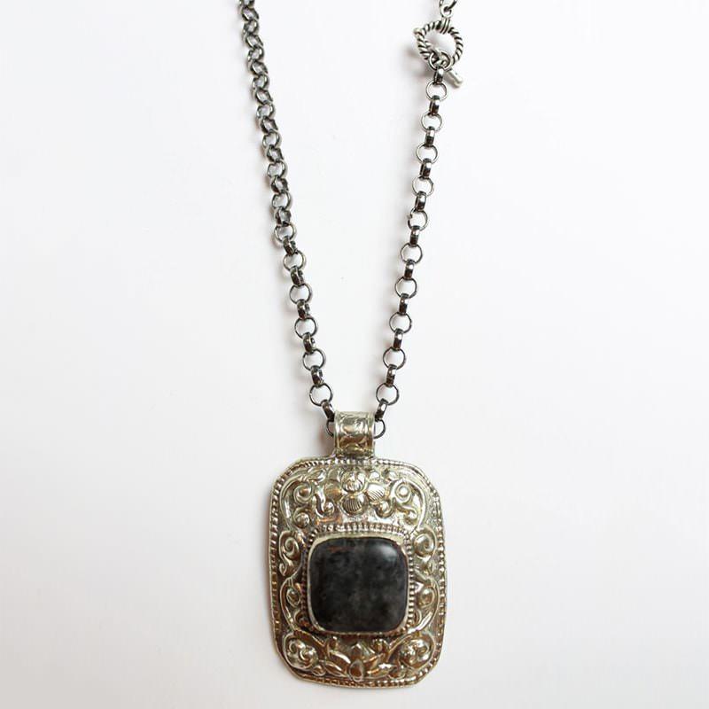 Blue Stone Square Medallion
