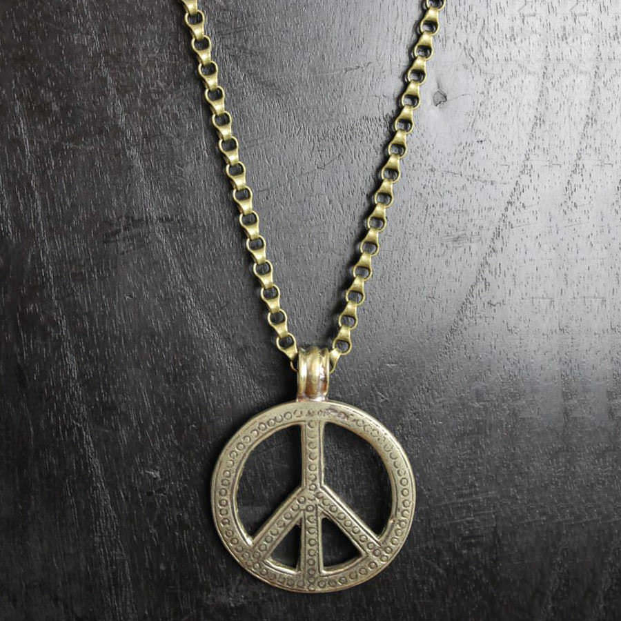 Etched Peace Medallion