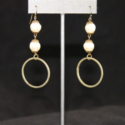Glass Pearl Drop Earrings 1300