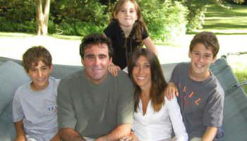 The Guz family in 2002: Liz and Brian and children, Michael, 10, David, 12, and Lauren, 7.