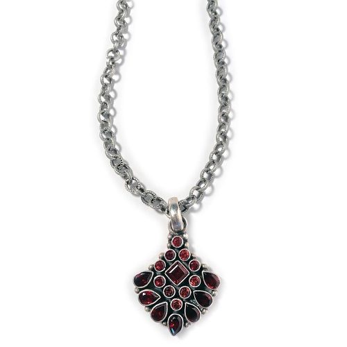 Red Garnet Indian Pendant Necklace