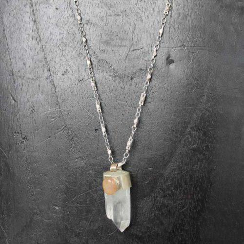 Quartz with Stone Necklace
