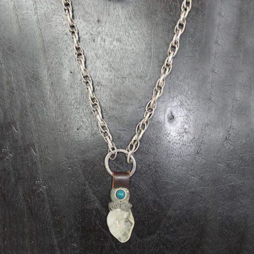 Quartz with Turquoise Stone Accent