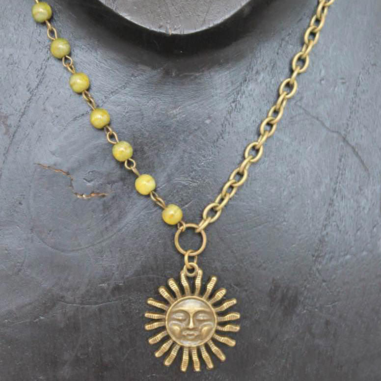 Sun with Chartreuse Beads