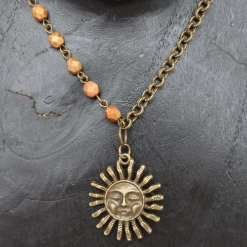 Sun with Coral Beads