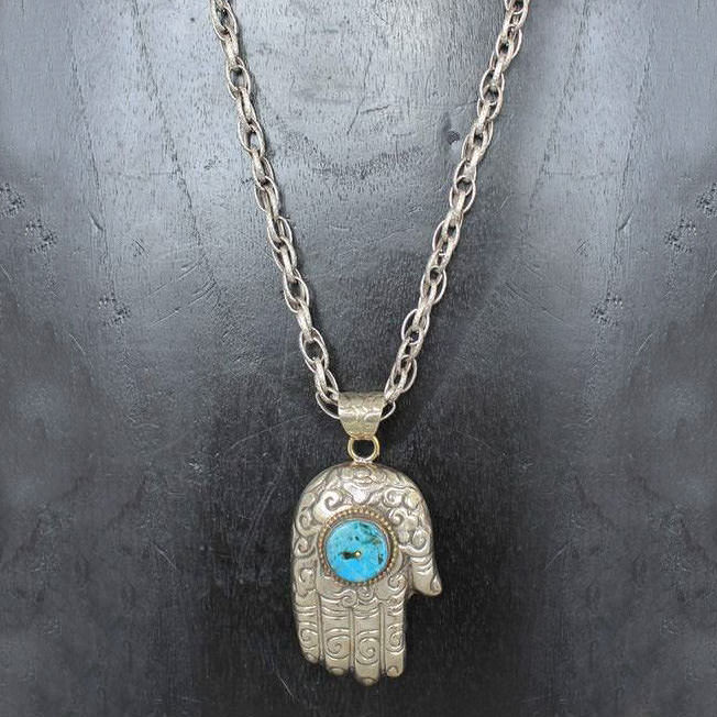 Turquoise Large Hand Necklace