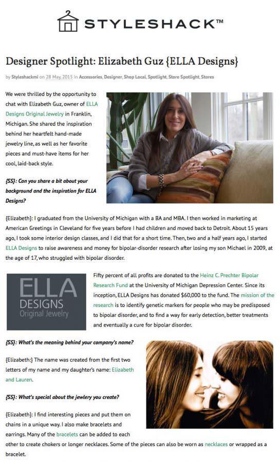 Designer Spotlight: Elizabeth Guz {ELLA Designs}
