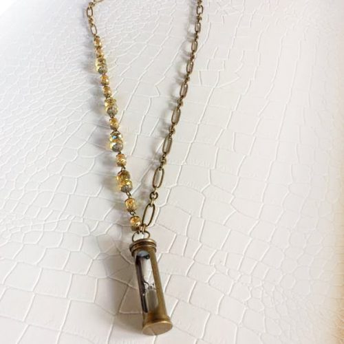 Beaded Hourglass Necklace