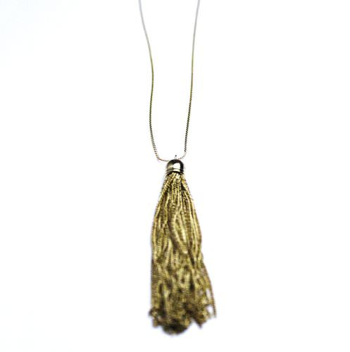 Gold Tone Tassle Necklace