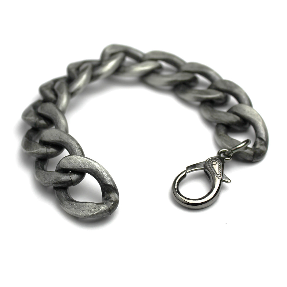 Large Distressed Grey Bracelet