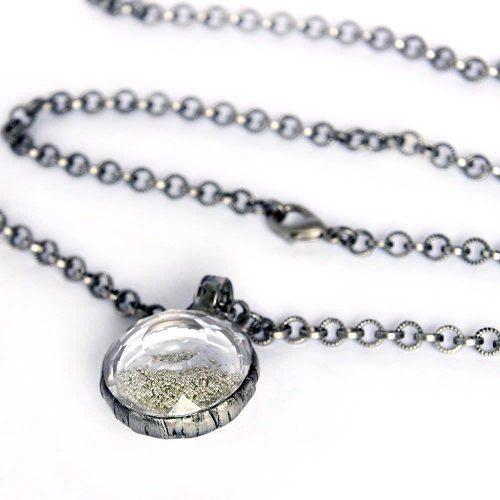 Silver Sand Terrarium Pendant Necklace