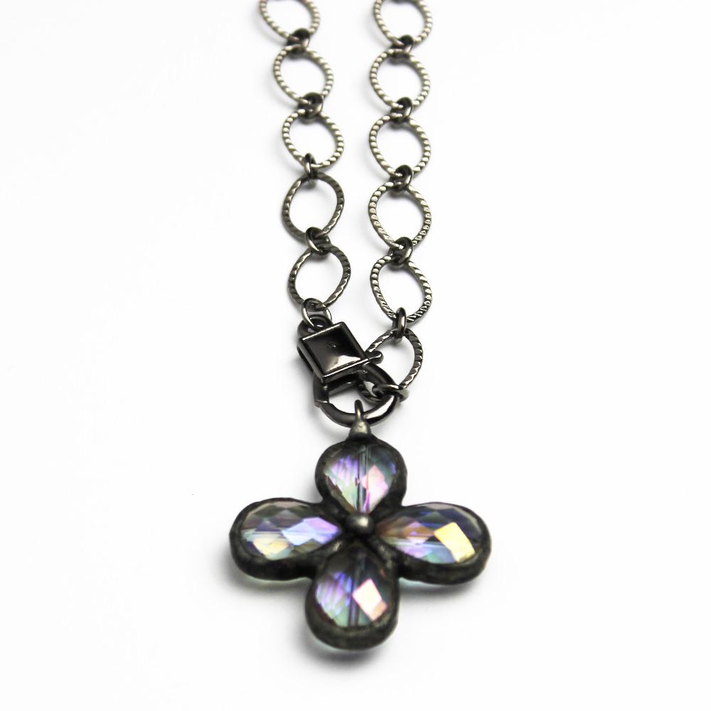 Soldered Crystal Cross