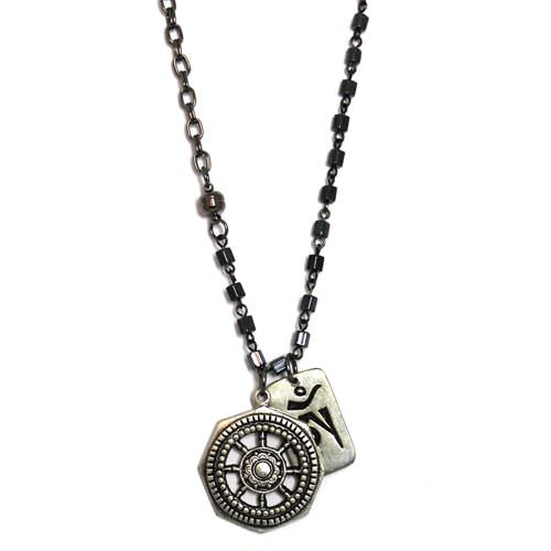 Tibetan Wheel with Ohm Charm