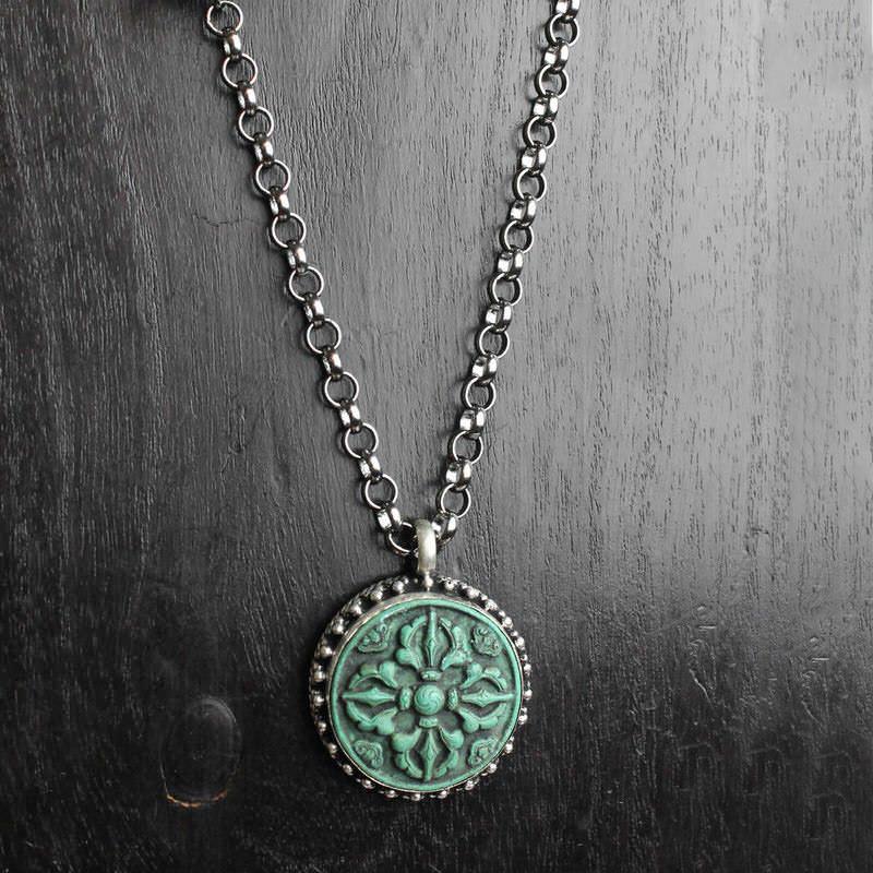 Green Lotus Necklace