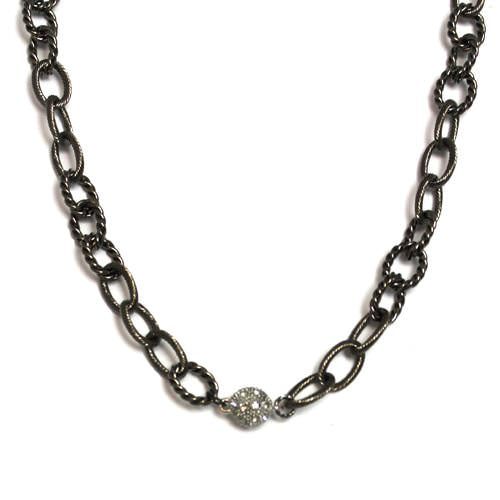 Large Textured Bronze Chain Choker