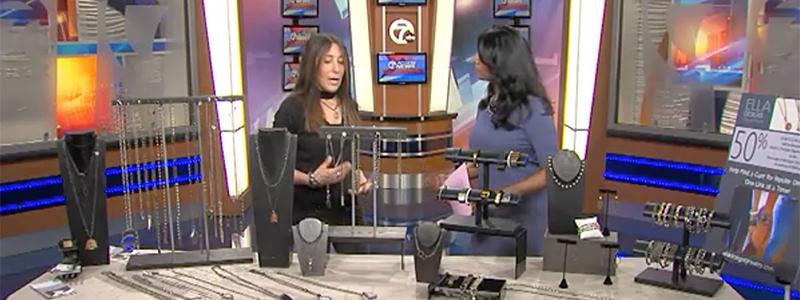 Liz Guz - Ella Designs Jewelry - interview ABC7 WXYZ